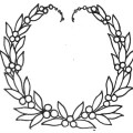 Wreath Embroidery Pattern From 1911