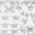 Butterfly Embroidery Designs For Lingerie From 1914