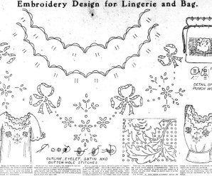 Embroidery Design For Lingerie And Bag From 1913