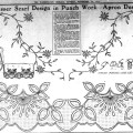Dresser Scarf And Apron Embroidery Patterns From 1912