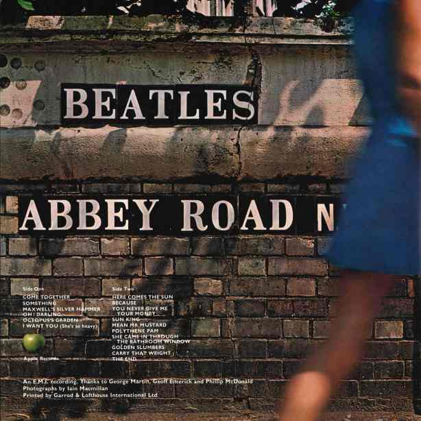 Abbey Road Back Cover