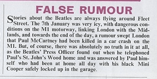 False Rumour