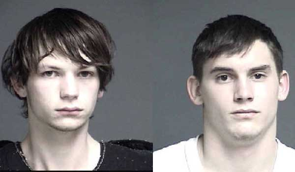 Austin Myers (L) and Timothy Mosley (R), at the time of their arrest -- Via FOX 19