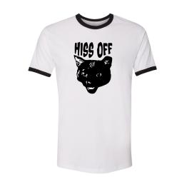 hiss off black cat t-shirt
