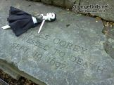 She is prone to drama and reenactment is one of her favorite past times. — at Salem Old Burying Point Cemetery.