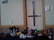 Snacks. And Satanic crosses.