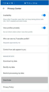 truecaller privacy