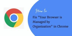 Your Browser is Managed by Organization