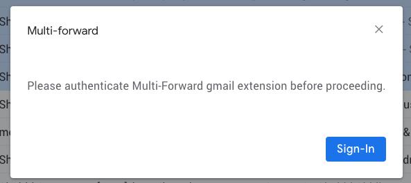Multi-Forward
