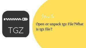 open tgz file