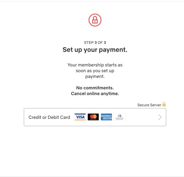 payment netflix