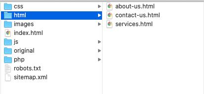html  folder