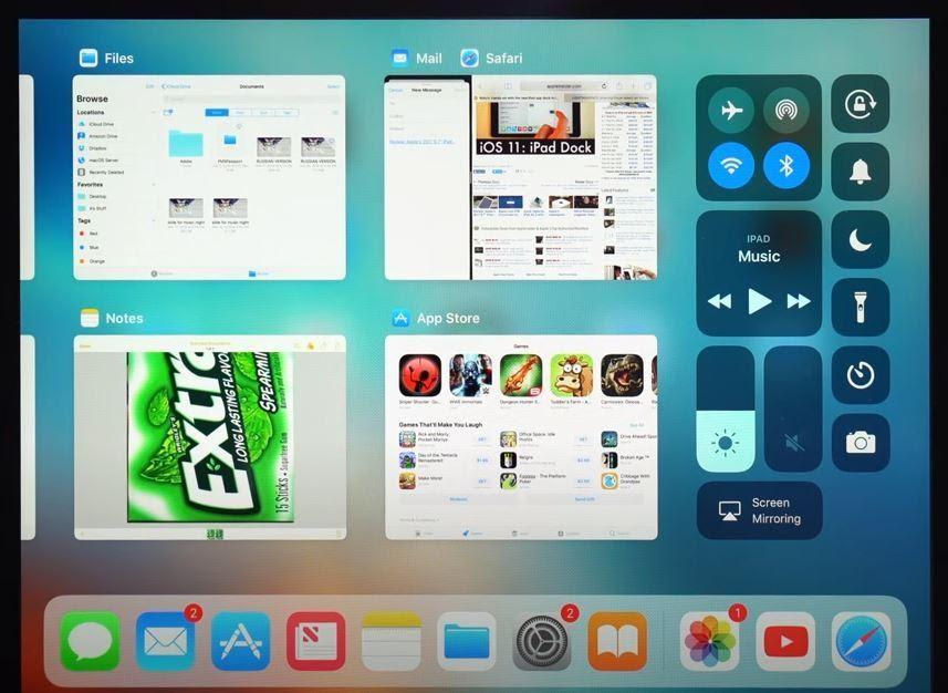 iPad split screen manage