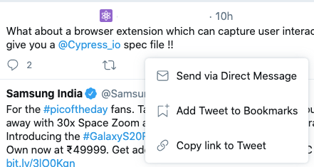 twitter comment link
