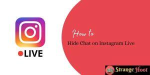 Hide Chat on Instagram Live
