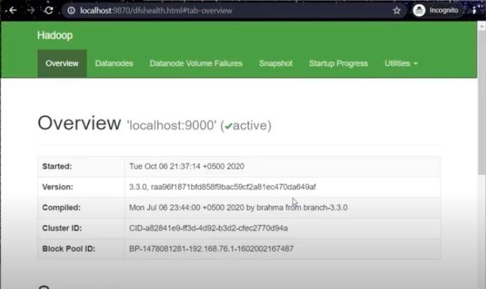 Hadoop Page