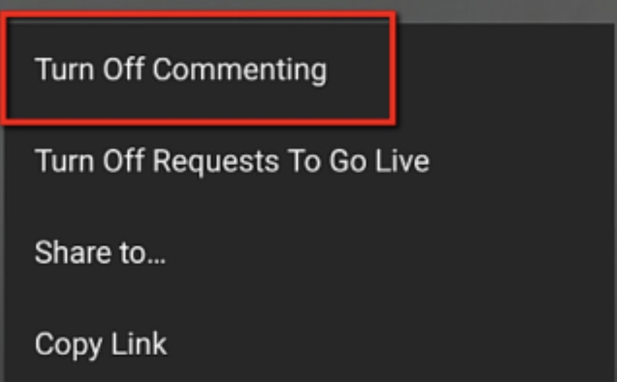 Turn off Commenting