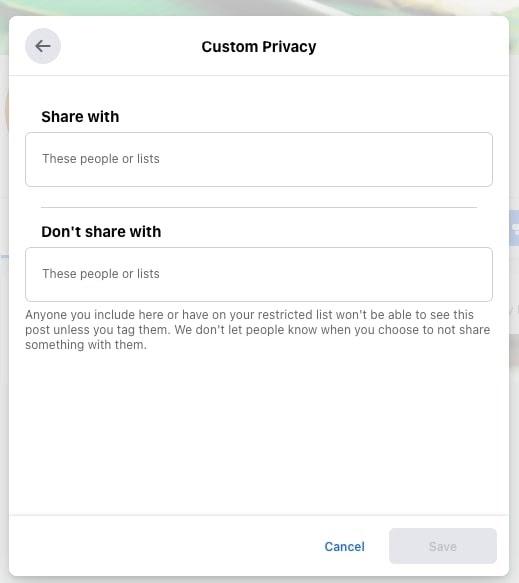 Custom Privacy
