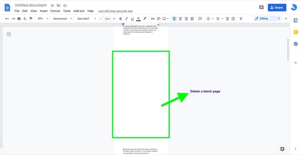 Google Docs Blank Page