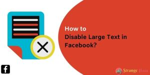 Disable Large Text in Facebook