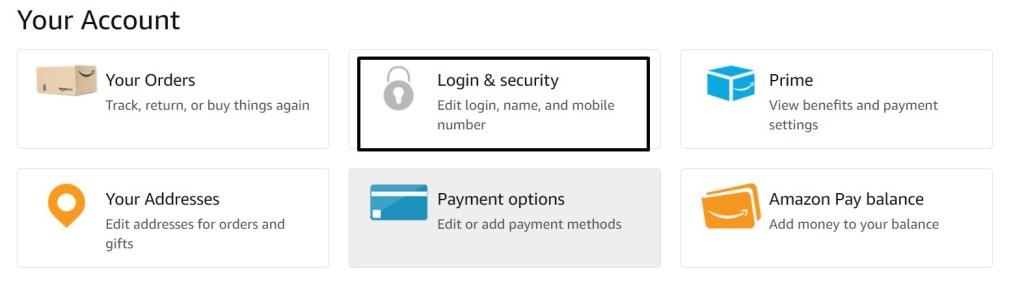 select login & security (edit login, name, mobile number)