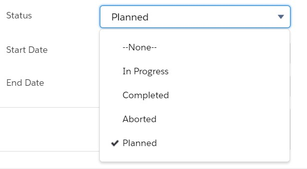 select planned  for end date