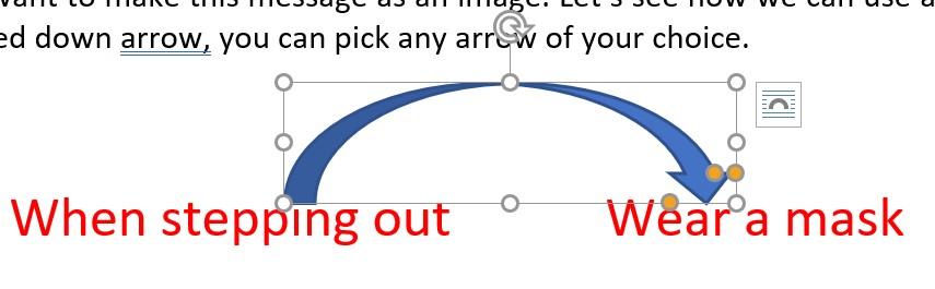 change the shape and angle of the arrow