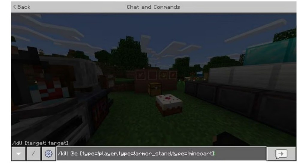 chat and command to kill player
