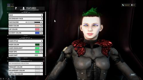 character creation screenshot