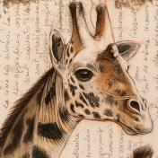 Paravent girafes détail