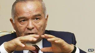 Islam Karimov, president of Uzbekistan