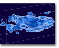 Distribution de la matière sombre dans l'univers observable (© NASA 2007)