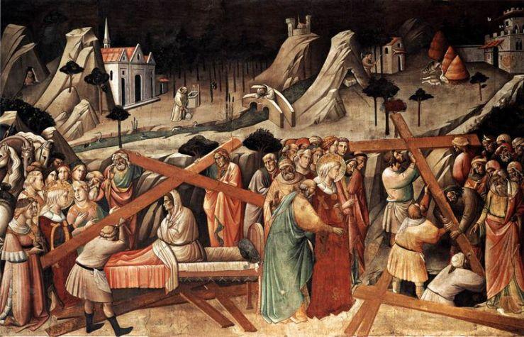 Η εύρεση του Τιμίου Σταυρού, τοιχογραφία του Agnolo Gaddi (1350–1396)