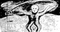"""""""Μοιάζει σαν άνθρωπος, αλλά δεν είναι. Είναι κοντός, ένα μέτρο περίπου. Δεν έχει μαλλιά, ούτε φρύδια, ούτε βλεφαρίδες."""""""