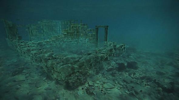 Τα ερείπια του καταποντισμένου Παυλοπετρίου