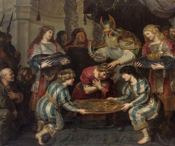 Ο Αρχιερέας Σαδώκ χρίζει βασιλιά τον Σολομώντα. Πίνακας του Φλαμανδού ζωγράφου Cornelis de Vos (1584 -1651)
