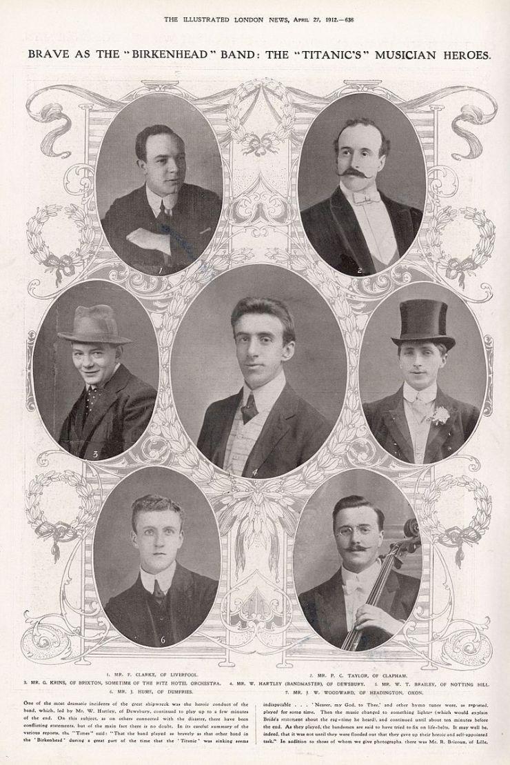 Τα μέλη της ορχήστρας του Τιτανικού
