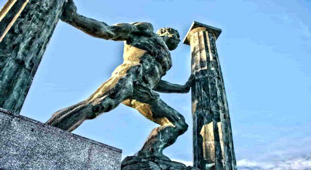 Το άγαλμα του Ηρακλή στο Γιβραλτάρ