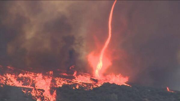 Firestorm Firenado during San Diego wildfires on May 15 2014