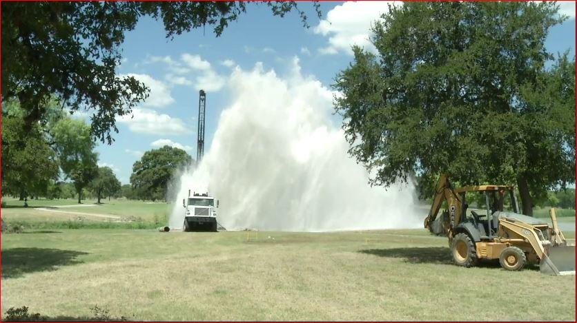 Geyser sinkhole swallows drill truck in San Antonio Texas  Strange Sounds