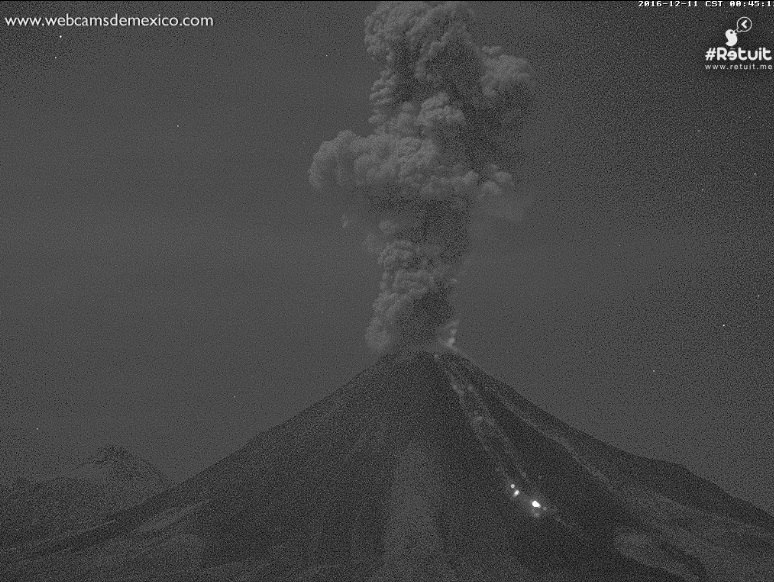 Colima volcano eruption on December 10, 2016, colima, volcano updates, volcanic eruption news, Colima volcano eruption on December 10, 2016