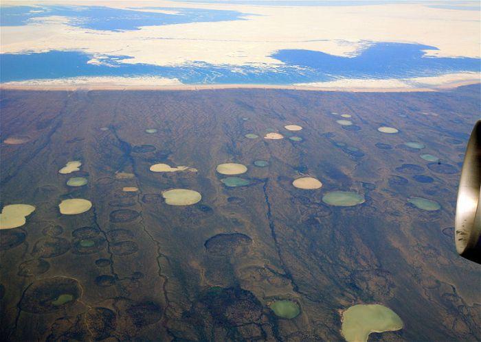 giant crater permafrost, giant crater permafrost video, giant crater permafrost photo, giant crater permafrost thawing canada hudson bay canada