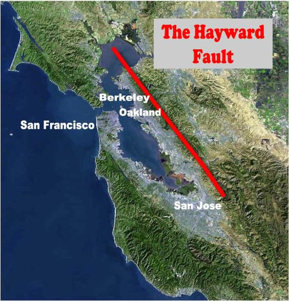 hayward fault hayward fault california most dangerous fault of the united states big