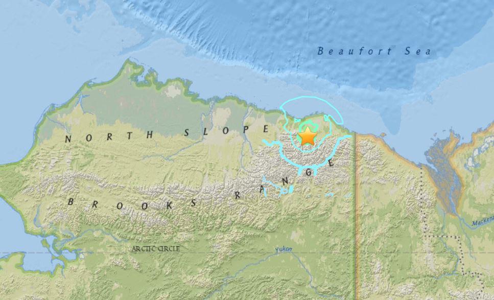 M6.4 earthquake alaska north slope, M6.4 earthquake hits Alaska North Slope on August 12 2018, M6.4 earthquake hits Alaska North Slope on August 12 2018 map