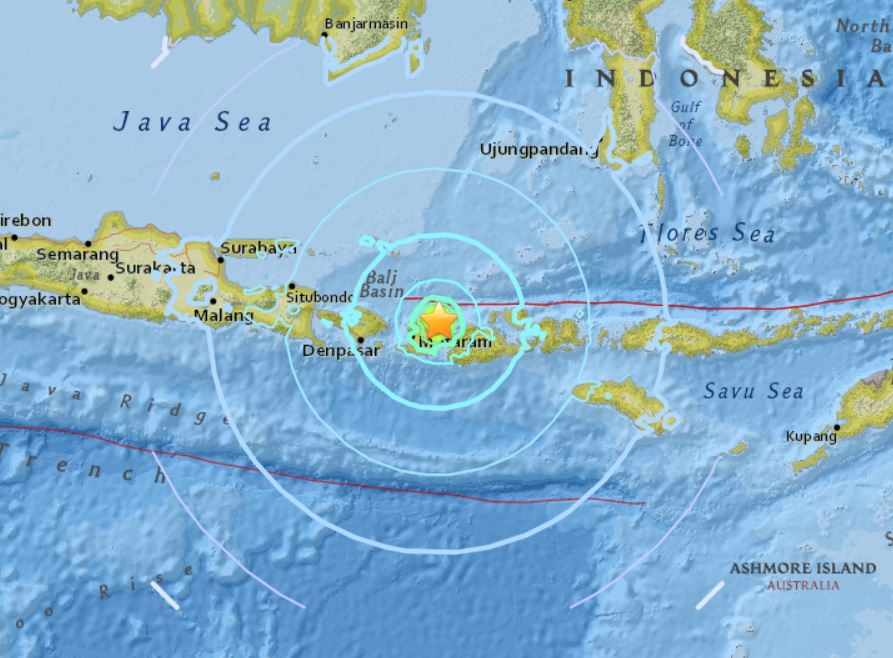 M6.3 earthquake lombok indonesia august 19 2018, M6.3 earthquake lombok indonesia august 19 2018 map, M6.3 earthquake lombok indonesia august 19 2018 video