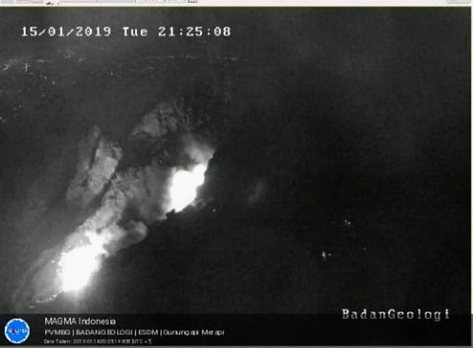 merapi eruption january 2019