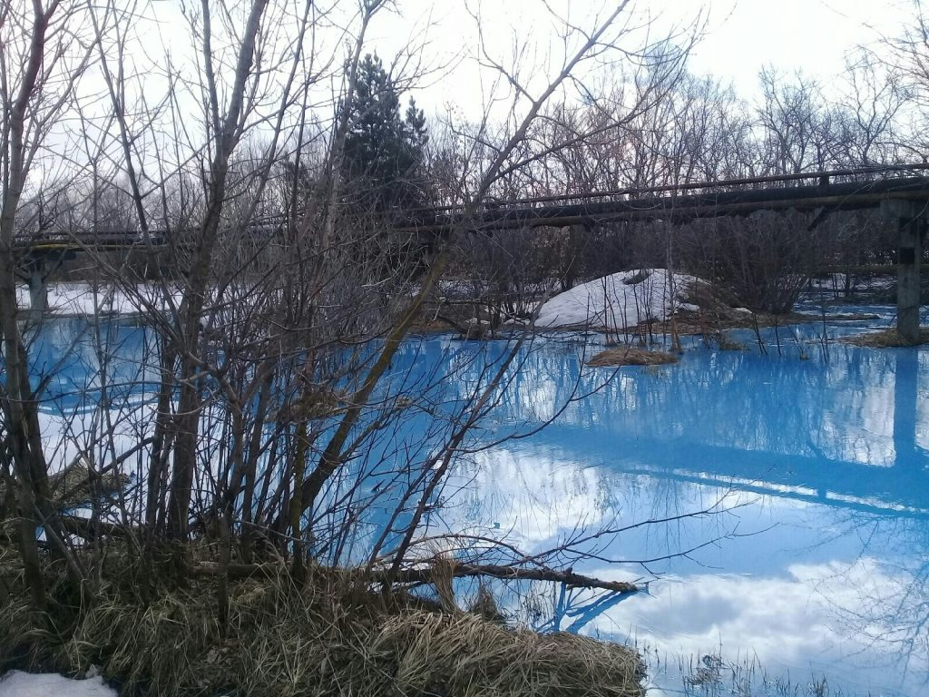 Mysterious glowing blue lake in Russia, Mysterious glowing blue lake in Russia video, Mysterious glowing blue lake in Russia pictures