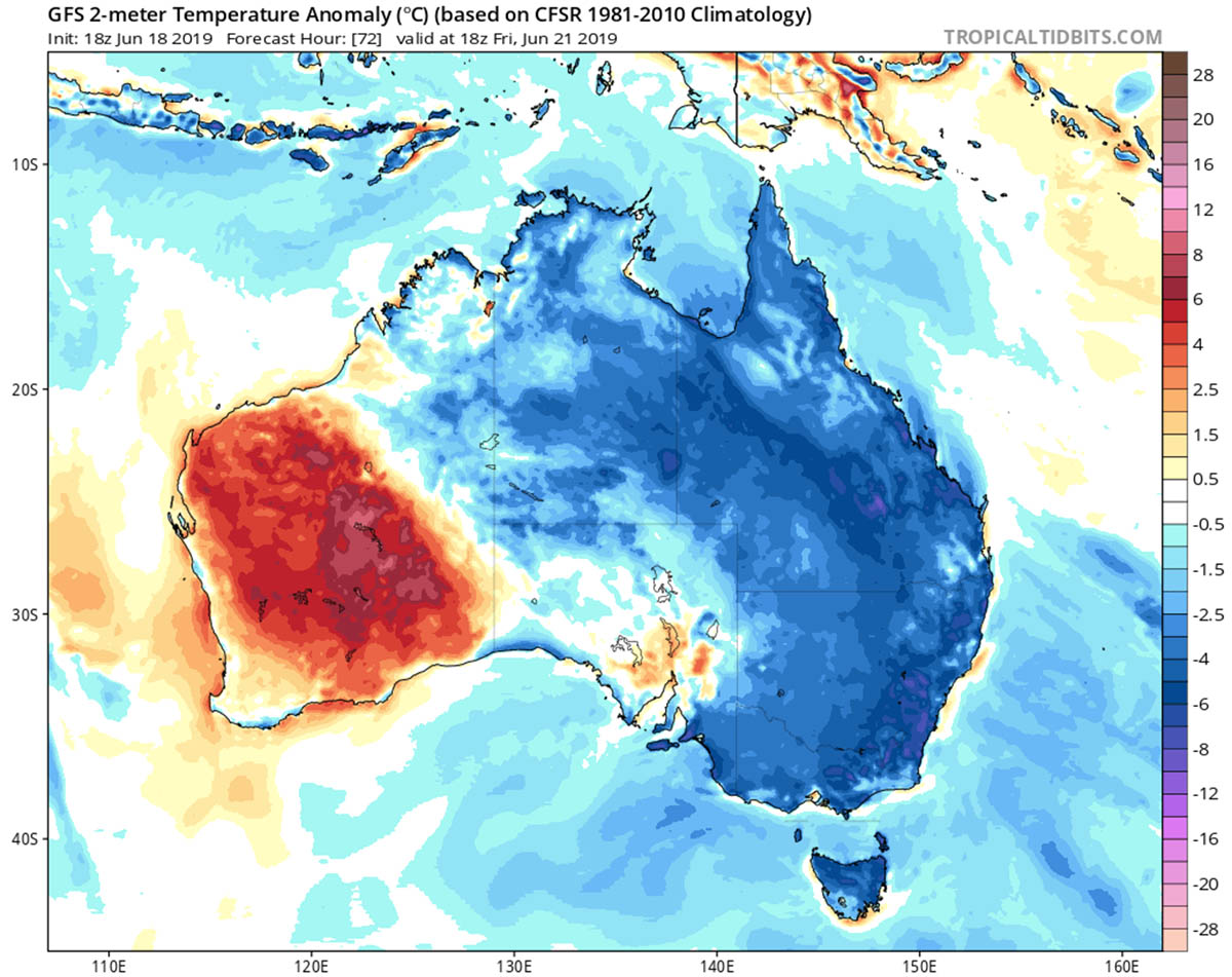 Winter Low Temperatures Hit Pretty Hard Across Large Parts