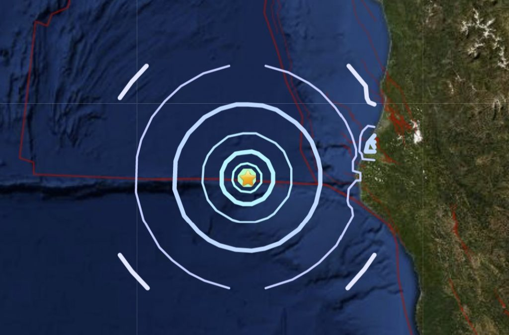 M4.4 earthquake hits off Petrolia in California on January 12 2021