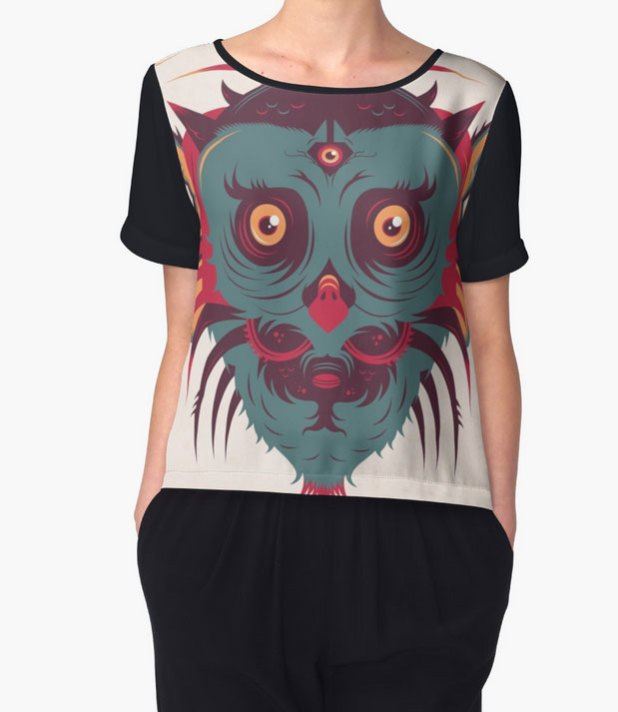 chiffon top owl